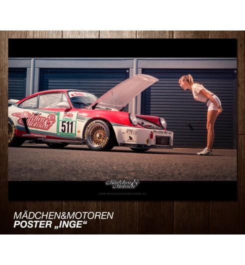 Poster Porsche 911 RSR    Inge vs. Hannah